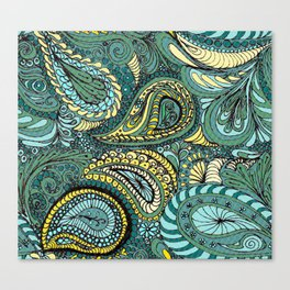 Meadow Paisley Canvas Print