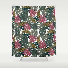 Monstera Luxe Shower Curtain