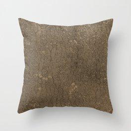Rustic Tree Bark Pattern Throw Pillow