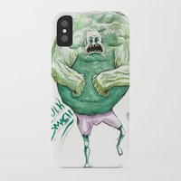 hulk iPhone & iPod Cases featuring Hulk by Crooked Octopus