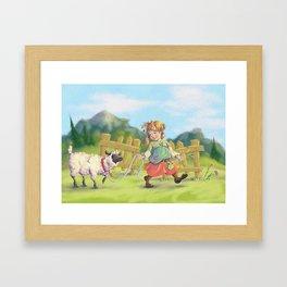 Shepherdess Framed Art Print