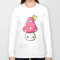 mushroom Long Sleeve T-shirts featuring Mushroom by Freeminds