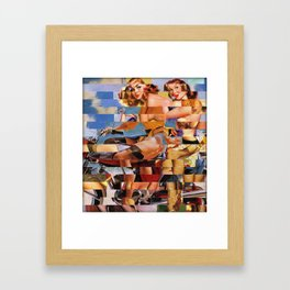 Glitch Pin-Up Redux: Zelda & Zoe Framed Art Print
