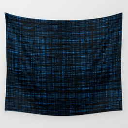 platno (black and blue) Wall Tapestry