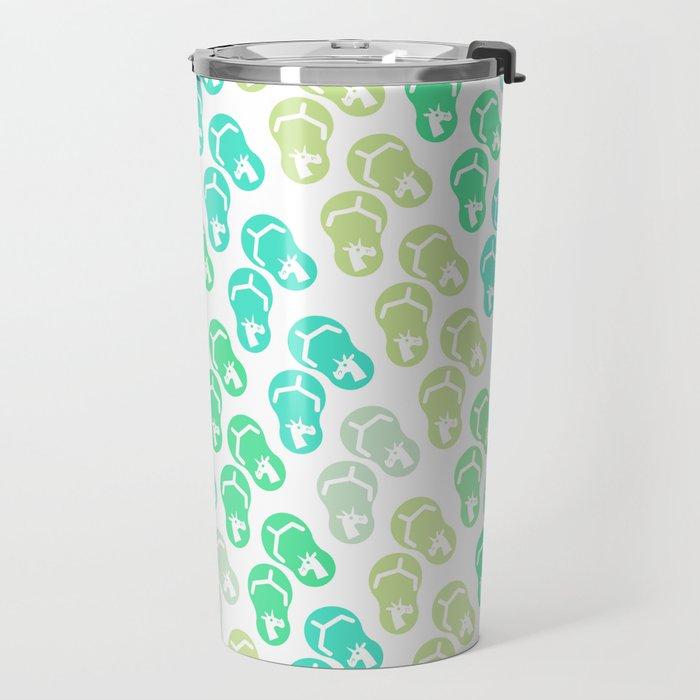 Flip Flop Unicorn Travel Mug