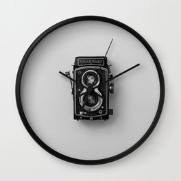 Old Camera (Black and White) Wall Clock