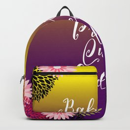 Floral Garden Baby Girl Princess Queen Goddess Typography Backpack