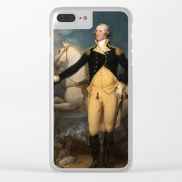 General George Washington at Trenton by John Trumbull (1792) Clear iPhone Case