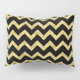 Chevron Black And Gold Pillow Sham