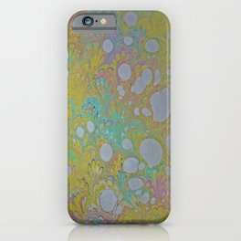 Easter Peacock Water Marbling iPhone Case