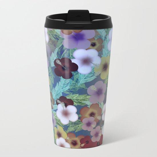 Hibiscus, The Moonlit Garden Metal Travel Mug