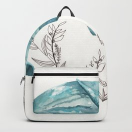 Sperm Whale Watercolor Backpack