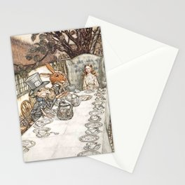 Arthur Rackham The Mad Tea Party 1907 Mad Hatter Hare Alice Stationery Cards