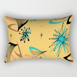 Mid Century Modern Retro Rectangular Pillow