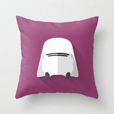 Snowtrooper Flat Design  Throw Pillow