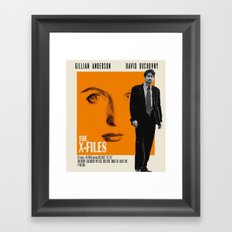 The X-Files as The American Framed Art Print