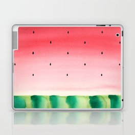 Watermelon in watercolor Laptop & iPad Skin