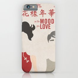 In the mood for love, minimal movie poster, Wong Kar-wai, Tony Leung, Maggie Cheung, Hong Kong film iPhone Case