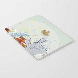 Hop, little bunny - autumn Notebook