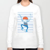 skate Long Sleeve T-shirts featuring Skate by Devin Soisson