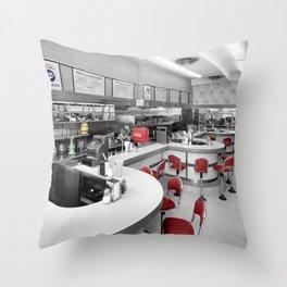 Diner 3 Throw Pillow