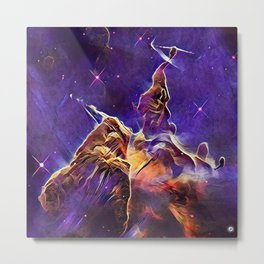 ALTERED Hubble Mystic Mountain- Carina Nebula Metal Print