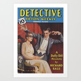 Detective Fiction Weekly - October 2nd 1937 Art Print