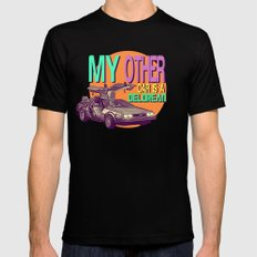 My Other Car Is A Delorean  |  Time Machine Black Mens Fitted Tee MEDIUM