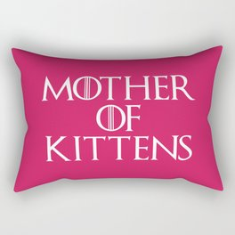Mother Of Kittens Funny Quote Rectangular Pillow