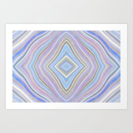 Mild Wavy Lines VII Art Print