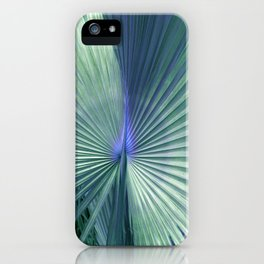 peacock palm iPhone Case