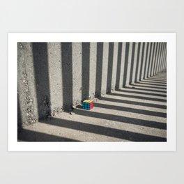 Rubik shading stripes Art Print