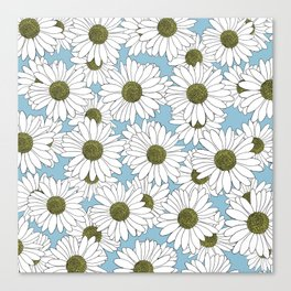 Daisy Blue Canvas Print