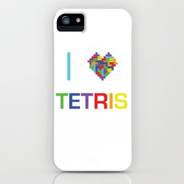 I heart Tetris iPhone Case