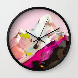 landscape mountain painting abstract Wall Clock