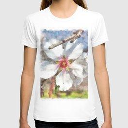 Almond Blossom Study Watercolor T-shirt