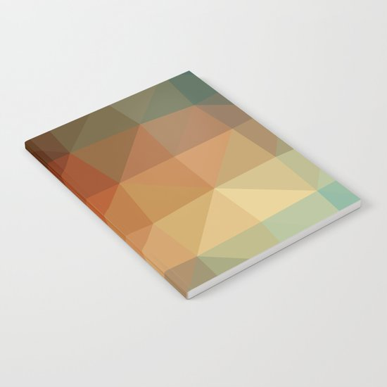 Shades of Green and Browns Triangle Abstract Notebook