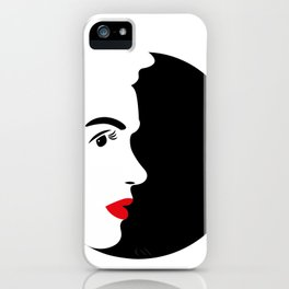 Profile of Marylin in Black and White iPhone Case