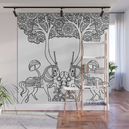 Art of India Horses Wall Mural