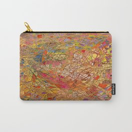 Gold light interlacing straw Carry-All Pouch