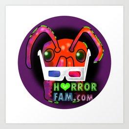 Zander HorrorFam.com Logo Art Print