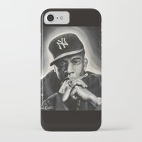 jay z iPhone & iPod Cases featuring Jay-Z by Sarah Painter