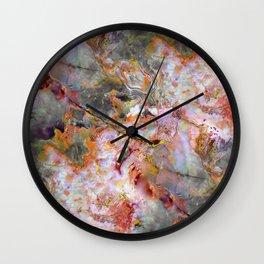 Rainbow Marble 1 Wall Clock