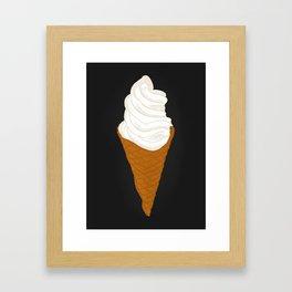 Vanilla Ice Cream Framed Art Print