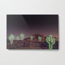 UFO forest Metal Print