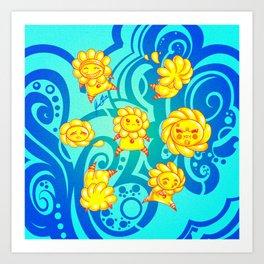 Flower Kids Art Print