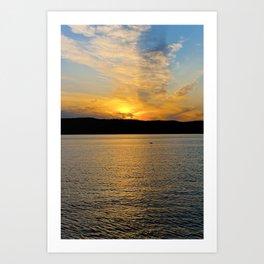 New York Sunset Art Print
