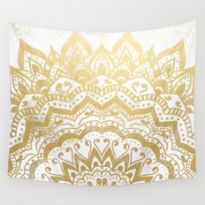 GOLD ORION JEWEL MANDALA Wall Tapestry