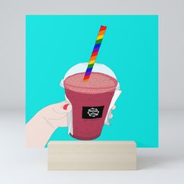 Salted Caramel Raspberry Ice Frappe Mini Art Print