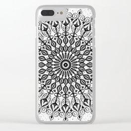 Mandala in grey Clear iPhone Case